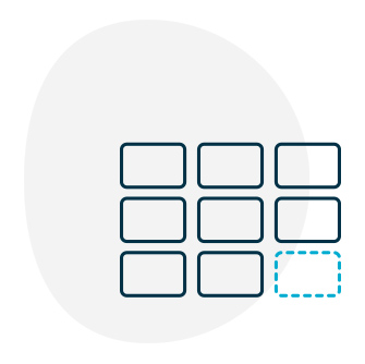 Card sorting icon